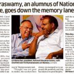 Kumaraswamy, an alumnus of National Collage,goes down the memory lane